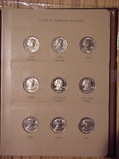Complete 1979-1981, 1999 SBA Dollars  BU and CH Proof (18 Coins)