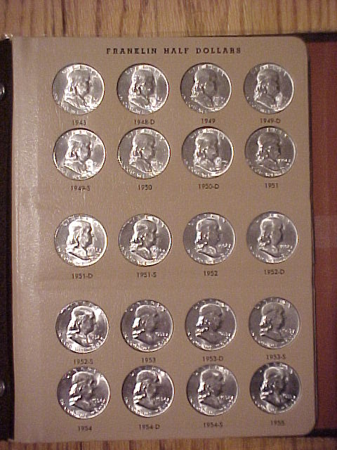 Franklin Half Dollars 1948-1963 Complete set BU Condition