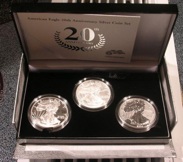 2006 American Eagle 20th Anniversary Silver Coin Set A10