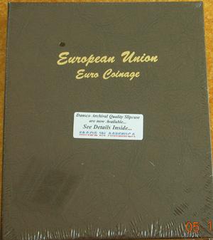DANSCO 7400 COIN ALBUM EUROPEAN UNION EURO COINS