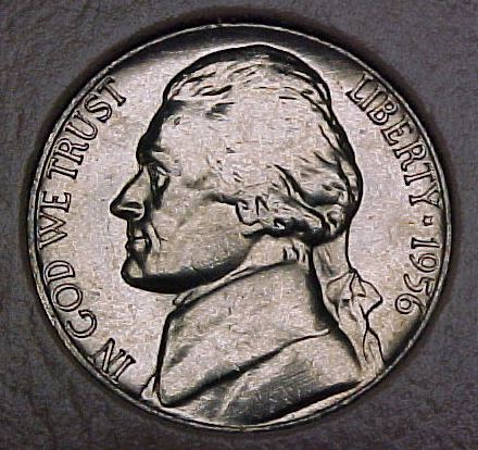 1956 P CH BU Jefferson Nickel Singles