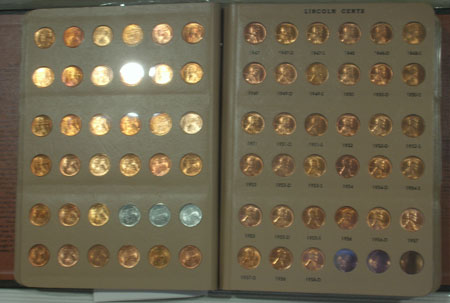 Lincoln Cents 1934 1958 Complete Set Ch Bu Ray Komka Coins