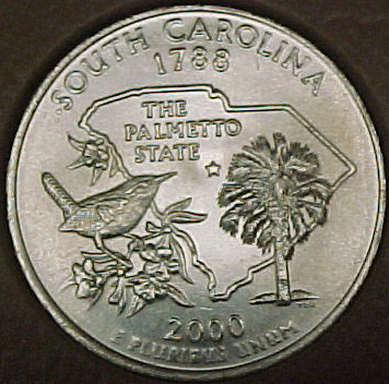 2000-D SC CH BU Washington Quarter Singles, Statehood ...