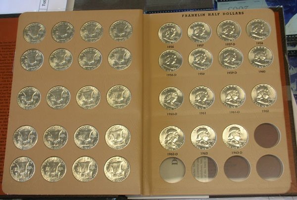 1948 1963 Complete Set Of Franklin Half Dollars Bu
