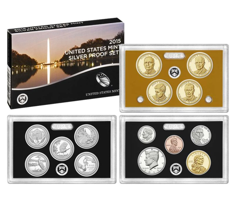 2015 U S Mint Silver Proof Set Ray Komka Coins