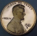 1981-S TY 1 Gem Proof Lincoln Cent Singles