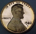 1982-S Gem Proof Lincoln Cent Singles
