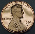 1984-S Gem Proof Lincoln Cent Singles