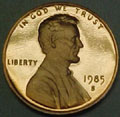 1985-S Gem Proof Lincoln Cent Singles