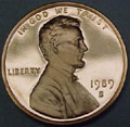 1989-S Gem Proof Lincoln Cent Singles