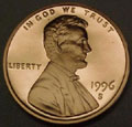 1996-S Gem Proof Lincoln Cent Singles