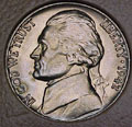 1942 CH BU Jefferson Nickel Singles