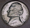1954-D CH BU Jefferson Nickel Singles