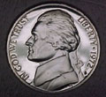 1972-S Gem Proof Jefferson Nickel Singles