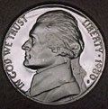 1980-S Gem Proof Jefferson Nickel Singles