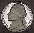1981-S TYPE 1 Gem Proof Jefferson Nickel Singles
