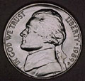 1989-P CH BU Jefferson Nickel Singles