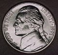 1991-P CH BU Jefferson Nickel Singles