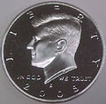 2005-S Gem Proof Kennedy Half Dollar Singles