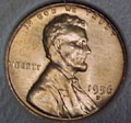 1956-D CH BU Lincoln Cent Singles
