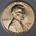 1971-D CH BU Lincoln Cent Singles