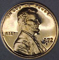 1972-S Gem Proof Lincoln Cent Singles