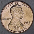 1982-P Copper L.D. CH BU Lincoln Cent Singles