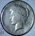 1921 Peace Dollar in Good Condition