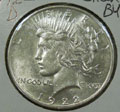 1922 D Peace Dollar in Slider BU Condition