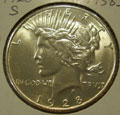 1928 S Peace Dollar in MS63 Condition