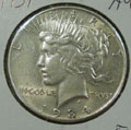 1934 Peace Dollar in AU Condition