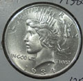 1934 Peace Dollar in MS60 Condition