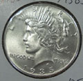 1935 Peace Dollar in MS63 Condition