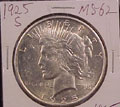 1925 S Peace Dollar in MS62 Condition