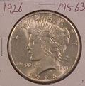 1926 Peace Dollar in MS63 Condition