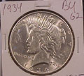 1934 Peace Dollar in MS62 Condition