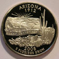 2008-S AZ Arizona Gem Proof Statehood Quarter Singles