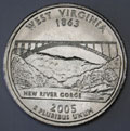 2005-D WV  West Virginia CH BU Statehood Quarter Singles