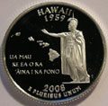 2008-S HI Hawaii 90% Silver Gem Proof Statehood Quarter Singles