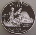 2005-S CA  California Gem Proof Statehood Quarter Singles