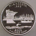 2005-S MN  Minnesota Gem Proof Statehood Quarter Singles
