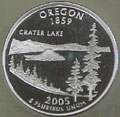 2005-S OR  Oregon 90% Silver Gem Proof Statehood Singles