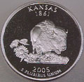 2005-S KS  Kansas Gem Proof Statehood Quarter Singles