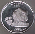 2005-S KS  Kansas 90% Silver Gem Proof Statehood Singles