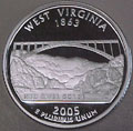 2005-S WV  West Virginia 90% Silver Gem Proof Statehood Singles