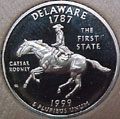 1999-S DE  Delaware Gem Proof Statehood Quarter Singles