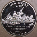 1999-S NJ  New Jersey Gem Proof Statehood Quarter Singles