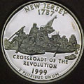 1999-S NJ  New Jersey 90% Silver Gem Proof Statehood Singles