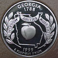 1999-S GA  Georgia 90% Silver Gem Proof Statehood Singles