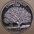 1999-S CT  Connecticut Gem Proof Statehood Quarter Singles